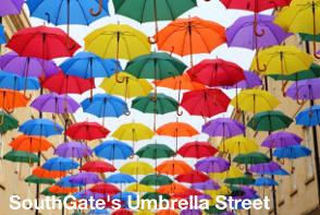 Bath Sightseeing - SouthGate's Umbrella Street