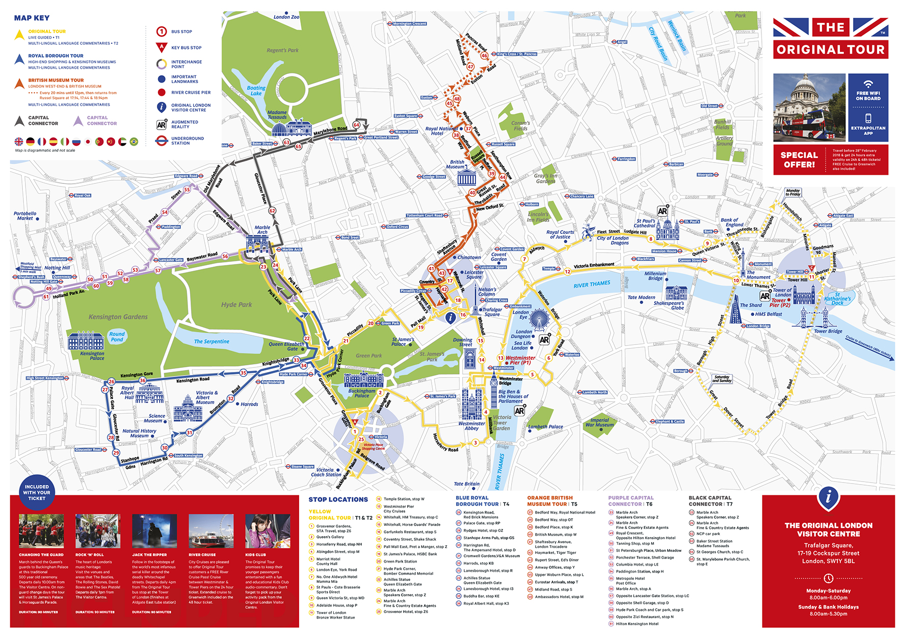Sightseeing Map Of London.Bus Ticket