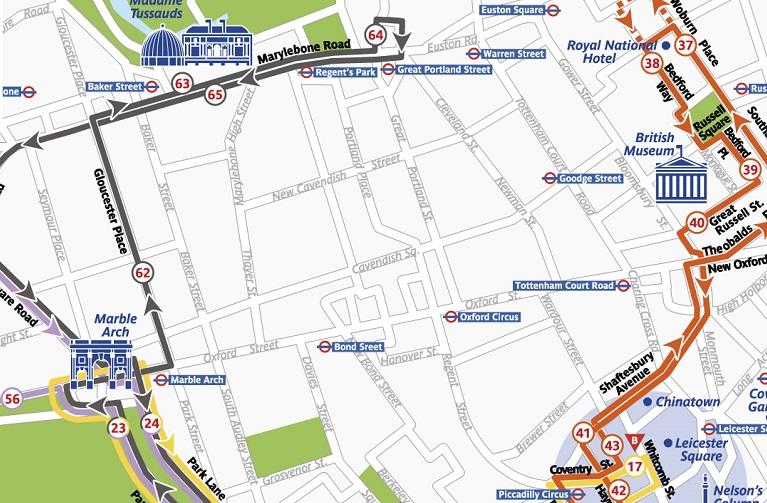 the original tour london black route