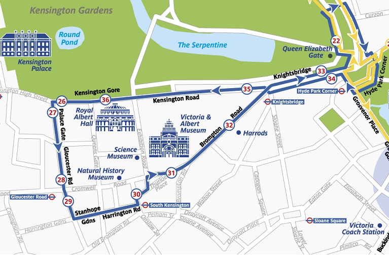 the original tour london blue route