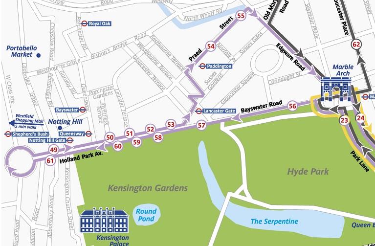 the original tour london purple connector