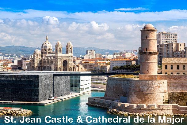 St Jean Castle and Cathedral de la Major - Marseille Sightseeing Bus Tour