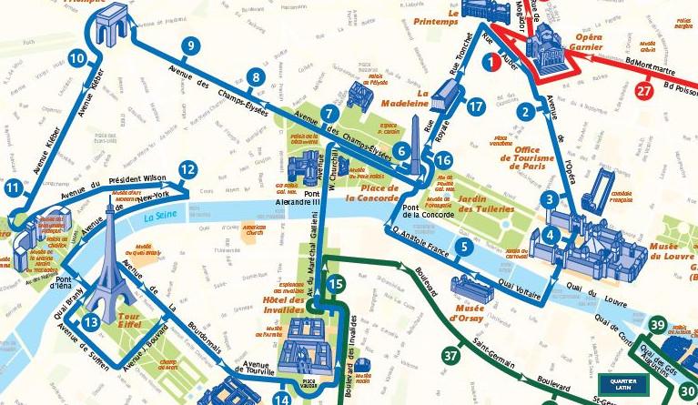 Open Tour Paris - Blue Route