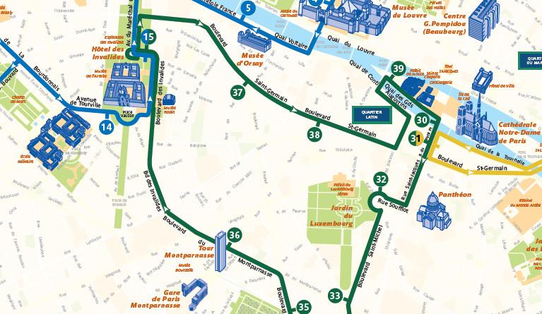 Open Tour Paris - Green Route