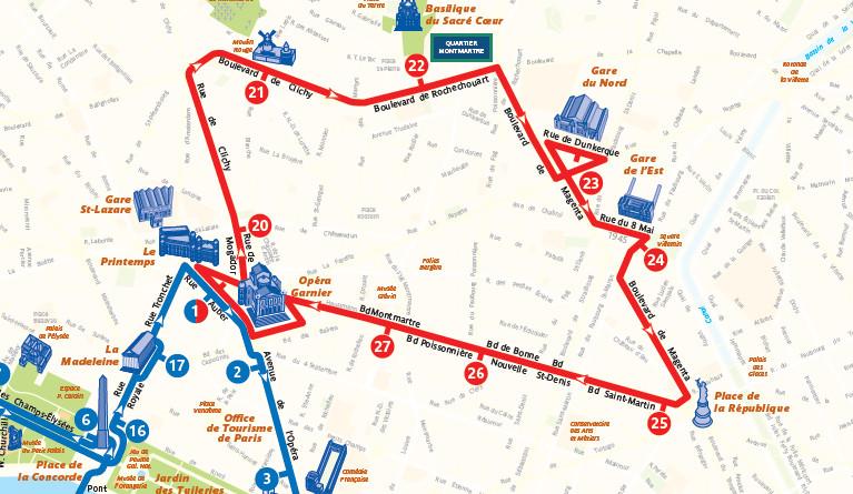 Open Tour Paris - Red Route