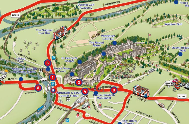 Windsor Routes Maps Extrapolitan Hop On Hop Off - Windsor map